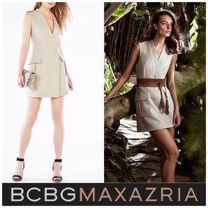BCBG Max Azria Justin Oatmeal Vest Mini Dress M/L